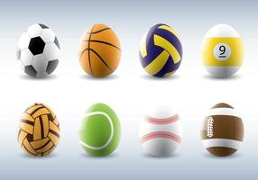 Sporty Easter Eggs Vectors