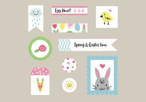 Etiquetas de Pascua coloridos vectores
