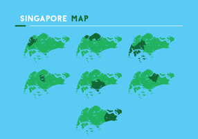 Singapore Kaart Vectoren