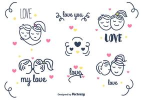 Kärlek Vector Set