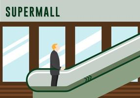 Free Escalator Vector lllustration