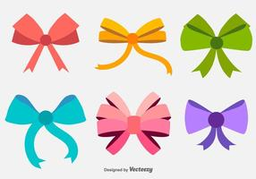 Vector Hair Bows Flat Icons