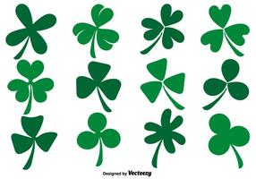 Vector Collection Of Flat Clover Icons