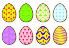 Iconos de brillantes huevos de Pascua Vectores