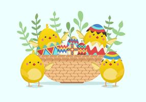 Cute Easter Chick Vector Illustration