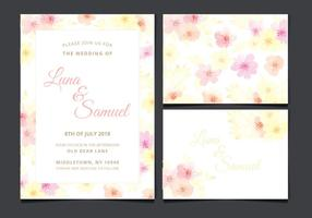Vector Wedding Invitation with Floral Elements