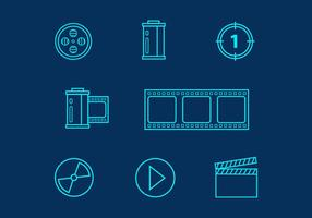 Free Line Cinema Icons Vector