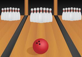 Free Bowling Lane Vector Illustration
