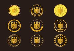 Eagle Seal Gold Logo Free Vector