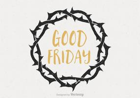 Good Friday Crown Of Thorns Vector Poster