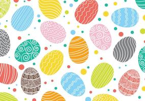 Padrão Easter Egg Background Vector