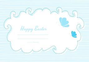 Plantilla linda de la tarjeta de Pascua