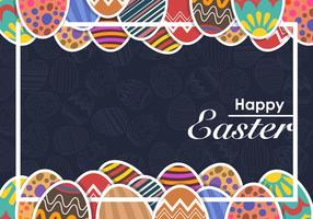 Moody Decorative Easter Eggs Vector Background