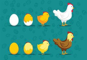 Easter Chick Icon Vectors