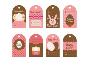 Gratis Pasen Gift Tag Vector Collectie