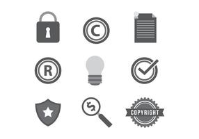 Gratis Copyright Vector Icons