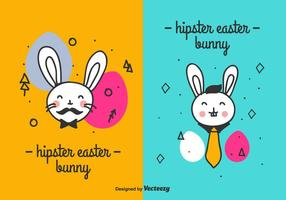 Hipster Easter Bunny Vector