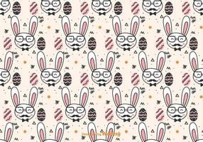 Doodle Hipster Ostern Muster