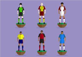 Subbuteo spelare Vector Collection