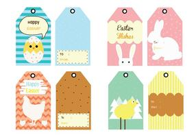 Pasen Gift Tag Vector Pack