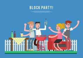 Block Party Vector Illustratie