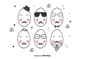 Vector Hipster Easter Egg