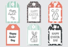 Cute Sketchy Easter Gift Tags Collection vector