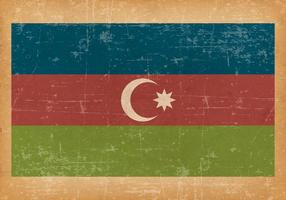 Flag of Azerbaijan on Grunge Background