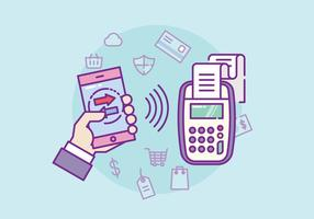 NFC Payment Illustration vector