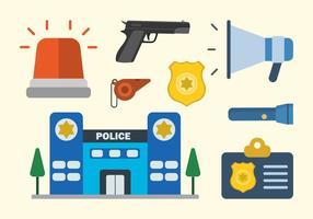 Flache Polizei Vektoren