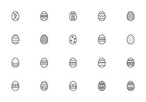 Liner huevos de Pascua Vectors