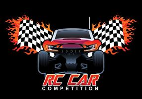 Rc Car Competition Vector