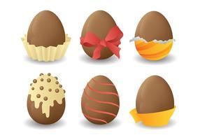 Chocolate livre ovos da páscoa Icons Vector