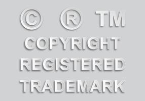 Copyright and Trademark Sign Vectoren