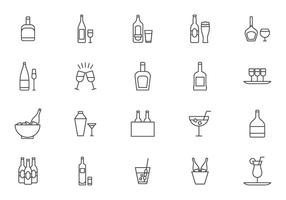 Cocktail und Spritz-Vektoren