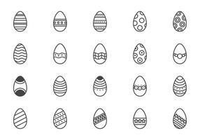 Vettori di uova di Pasqua minime