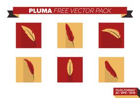 Röd och gul Pluma Free Vector Pack