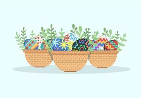 Colección del huevo de Pascua del vector