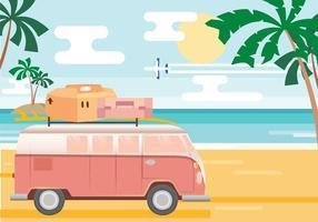 Vector de la playa de vacaciones