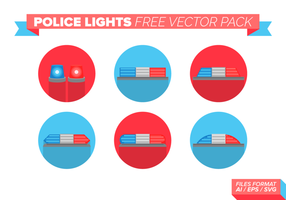 Politie Lights Gratis Vector Pack