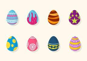 Vettori di uovo di Pasqua piatta