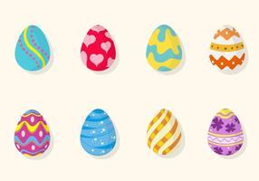 Vectores planos del huevo de Pascua