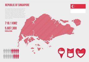 Free Singapore Map Infographic Vector