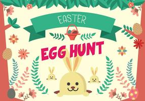 Cute Easter Egg Hunt Poster Vector