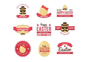 Free Hipster Easter Badge Vector Collections