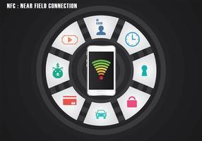 NFC icono del vector