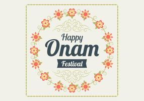 Onam Floral Vector Background