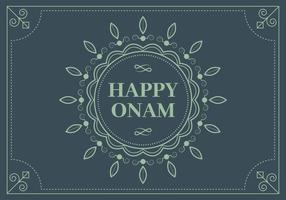 Onam azul Vector Background
