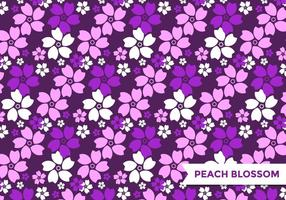 Purple Peach Blossom Pattern Vector