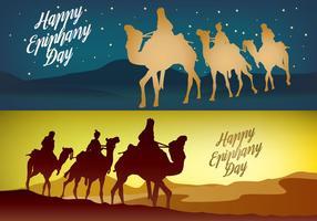 Feliz Día de Reyes Banner vectores